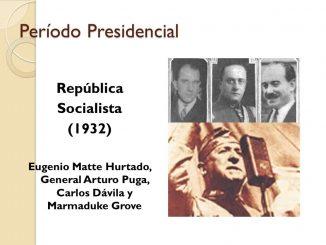 Eugenio Matte Hurtado, General Arturo Puga, Carlos Dávila y Marmaduke Grove.